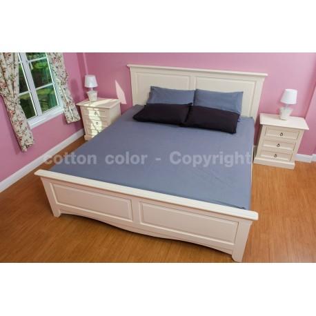 ผ้าปูที่นอน 6 ฟุต 100% cotton satin สี เทา 030