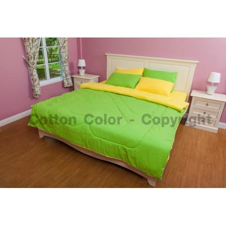 ชุดผ้าปูที่นอน Cotton color รุ่น Pear Lemon Fizz