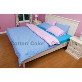 ชุดผ้าปูที่นอน Cotton color รุ่น pink peppermint