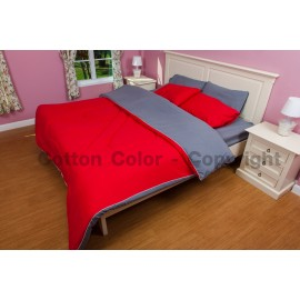 ชุดผ้าปูที่นอน Cotton color รุ่น Cherry Bomb