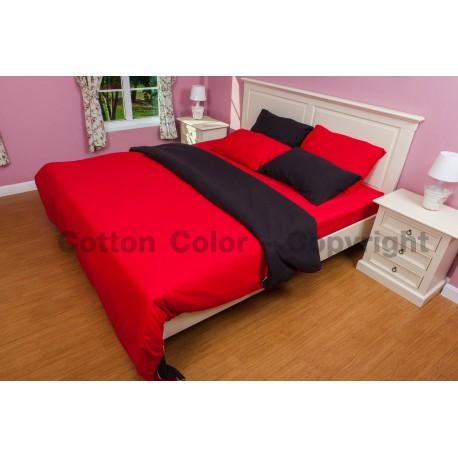 ชุดผ้าปูที่นอน Cotton color รุ่น Black Swan