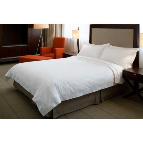 ผ้าปูที่นอนสีขาวล้วน 6 ฟุต