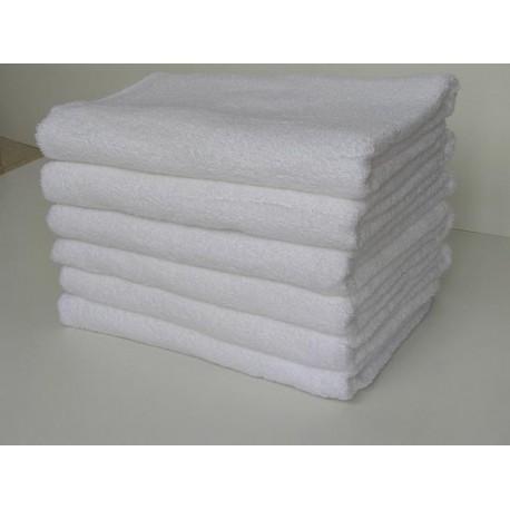 ผ้าเช็ดตัว สีขาวล้วน 13.23 ปอนด์/โหล