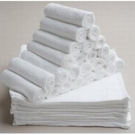 ผ้าเช็ดหน้า สีขาวล้วน 3.17 ปอนด์/โหล