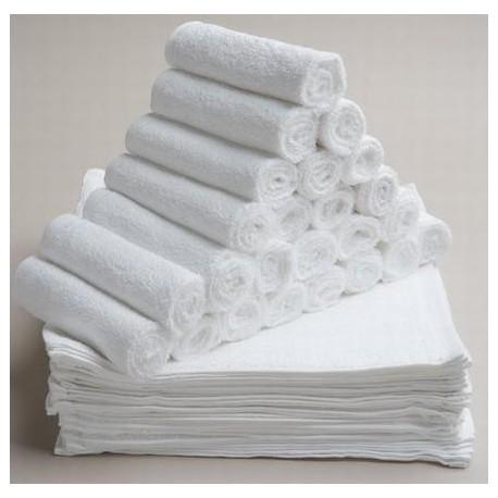 ผ้าเช็ดมือ สีขาวล้วน 1.32 ปอนด์/โหล