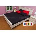 ผ้าปูที่นอน 5 ฟุต 100% cotton satin สี ดำ 002