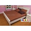 ผ้าปูที่นอน 5 ฟุต 100% cotton satin สี น้ำตาล 009